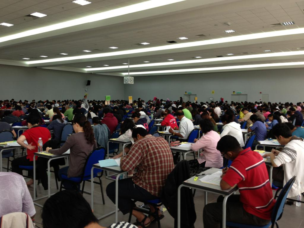 CLP Examination (1 - 10 July 2012) at Hall 3, Examination Building, University Malaya, Kuala Lumpur